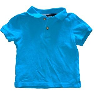 5/$25 🔴 Place Aqua Blue Button Polo 👕 Top